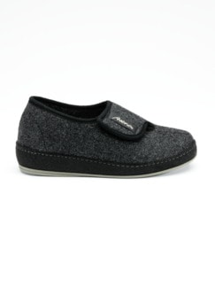 Herren-Wollfilz-Klettslipper Anthrazit Detail 2