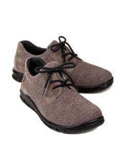 Waldläufer-Sneaker Merino Grau Detail 1