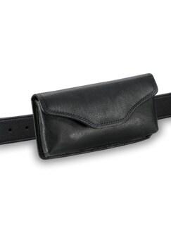 Brillen-Gürteltasche Schwarz Detail 1