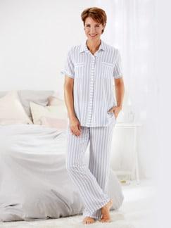 Schlafanzug Sommertraum Weiß Detail 1