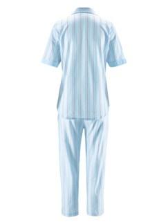 Klimasoft-Schlafanzug Pastellstr. Hellblau Detail 3