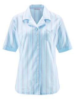 Klimasoft-Schlafanzug Pastellstr. Hellblau Detail 4