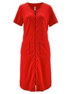 Frottee-Hauskleid Maritim Rot Detail 2