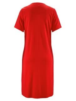 Frottee-Hauskleid Maritim Rot Detail 3