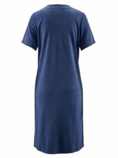 Frottee-Hauskleid Maritim Blau Detail 3