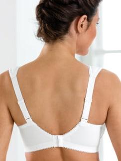 Klima-Stütz-BH Rückenverschluss Weiß Detail 2
