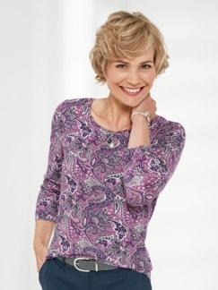 Paisley-Shirt Rosé/Grau Detail 1