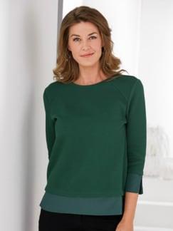 Soft-Sweatshirt 2-in-1-Optik Grün Detail 1