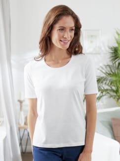 Wohlfühl-Basic-Shirt Weiß Detail 2