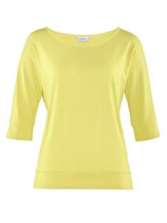 Klimasoft-Shirt Halbarm Zitronengelb Detail 3