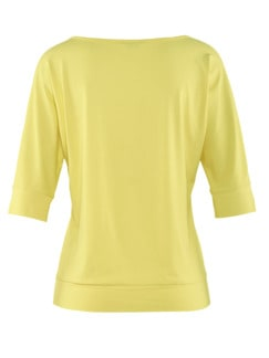 Klimasoft-Shirt Halbarm Zitronengelb Detail 4