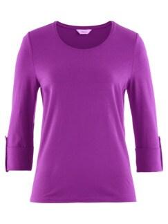 Klimasoft-Shirt 3/4-Arm Lila Detail 3