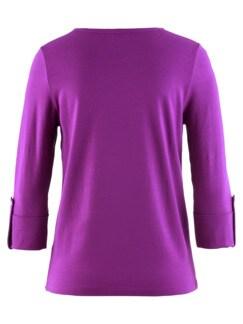 Klimasoft-Shirt 3/4-Arm Lila Detail 4