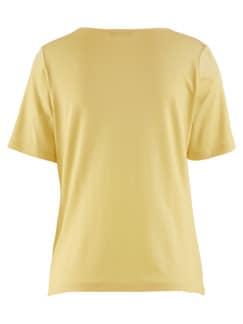 Shirt Wasserfall-Ausschnitt Lyocell Stroh Detail 4