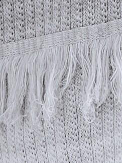 Strickjacke Softmelange Hellgrau/Weiß Detail 3