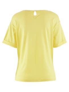 Seidenjersey-Shirt Sonnengelb Detail 4