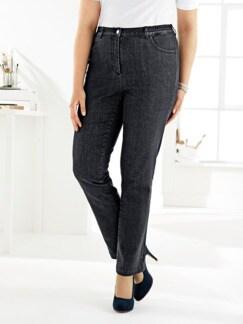 Komfortbund-Jeans 5 Pocket Schwarz Detail 1