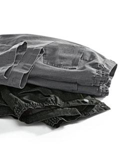 Komfortbund-Jeans 5 Pocket Grau Detail 2