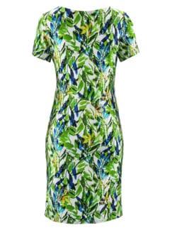 Freizeitkleid Tropical Grün gemustert Detail 3