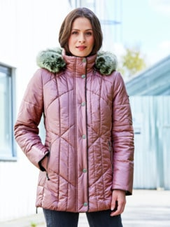 Steppjacke Supersoft Rosa Detail 2