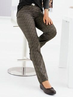 Stretchhose Easy Comfort Schwarz/Braun Detail 1
