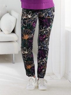 Baumwollhose Superstretch Floral