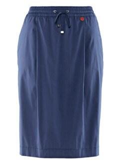 Bequem-Schlupfrock Sommerfrisch Jeansblau Detail 3