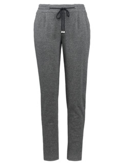 Supersoft-Jersey-Hose Joggingstil Grau meliert Detail 3