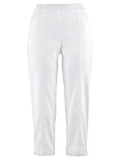 Wohlfühl-Capri Baumwolle Weiß Detail 3