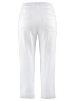 Wohlfühl-Capri Baumwolle Weiß Detail 4