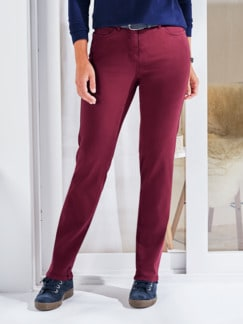 Softstretch-Hose Cashmeretouch Bordeaux Detail 1