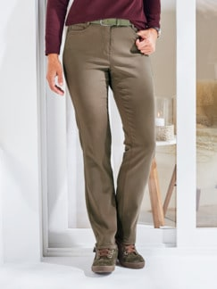 Softstretch-Hose Cashmeretouch Taupe Detail 1