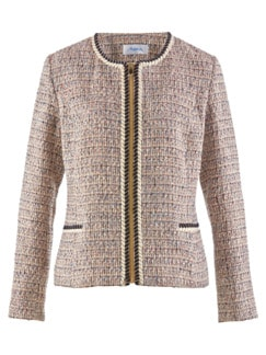 Boucle-Blazerjacke Beige/Multicolor Detail 3