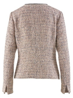 Boucle-Blazerjacke Beige/Multicolor Detail 4