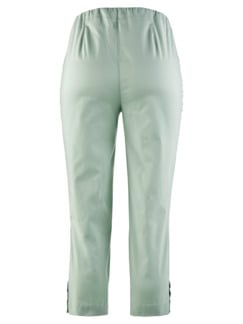 Caprihose Baumwoll-Highstretch Mint Detail 4