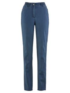 Soft-Jeans Figurwunder Mittelblau Detail 3