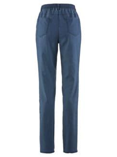 Soft-Jeans Figurwunder Mittelblau Detail 4