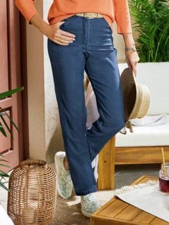 Soft-Jeans Figurwunder Mittelblau Detail 1