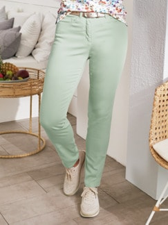 Baumwoll-Highstretch-Hose Mint Detail 1