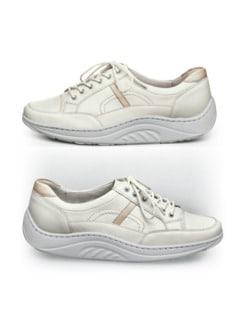 Rollsohlen-Sneaker Klassik Weiß/Beige Detail 1
