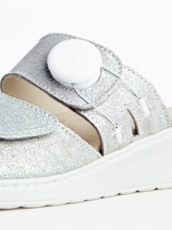 Hallufix-Pantolette Silber Detail 3