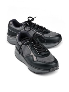 Joya-Sneaker Rückenfit Bequemweite Grau Detail 1