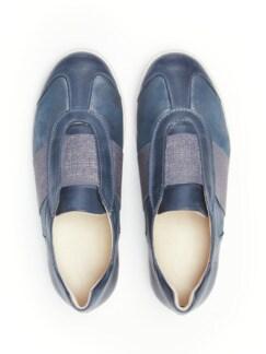 Hallux-Slipper Fühl-Dich-Wohl Jeansblau metallic Detail 4
