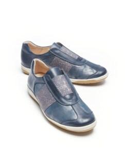 Hallux-Slipper Fühl-Dich-Wohl Jeansblau metallic Detail 1