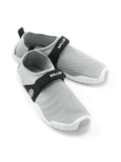 Wohlfühl-Barfuß-Schuh Hellgrau Detail 1