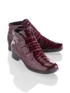 Thermo-Light-Stiefelette Kroko Bordeaux Detail 1