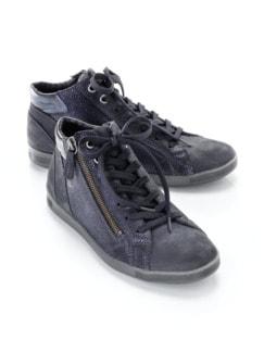 Reißverschluss-Sneaker Shiny high