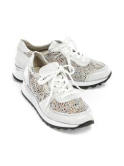 Waldläufer-Prophylaxe-Sneaker Weiß gemustert Detail 1