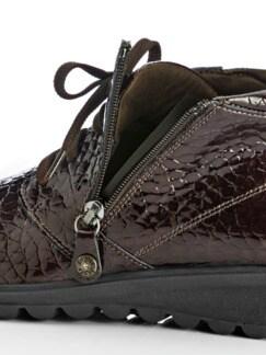 Luftkissen-Kroko-Boots Ultraleicht Kaffee Detail 3