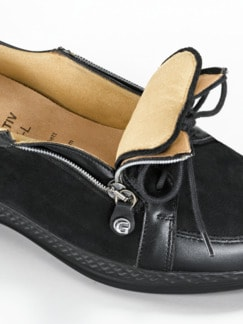 Ganter-Prophylaxe-Schuh Double-Zip Schwarz Detail 3
